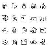 Data security icon set