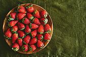 Plate of ripe berries
