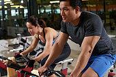 Having Training in Fitness Club