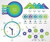 Five Finance Charts Templates Set