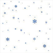 Realistic Vector Snowflakes .