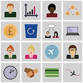 Vector icons of busnes concept.