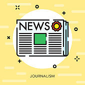 News Open Outline Communication Icon