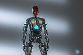 Futuristic cyborg model