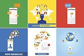 Set of concepts on the theme of social networks and communication on the Internet.