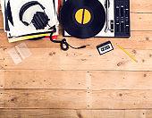retro music header