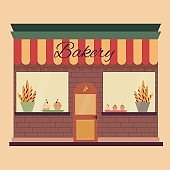 Flat Illustration of the bakery
