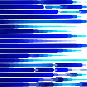 Abstract vector background with blue bright stripes.