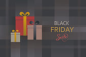 Black friday sale present box background