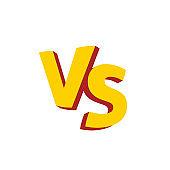 Versus letters or vs  vector emblem