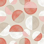 Polka dot seamless pattern. Scribble texture. Textile rapport.