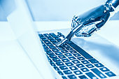 Artificial Intelligence Robot Hand Using Computer