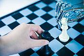 Robotic playing chess with human