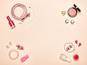 Fashionable Women's Cosmetics and Accessories