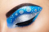 Eye girl makeover snowflakes