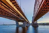 HDR. Metro bridge.Kiev,Ukraine