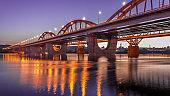 High Dynamic Range Imaging. Metro bridge. Kiev,Ukraine