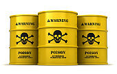 Barrels with poisonous substance