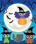 Halloween image with owls theme 5