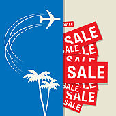 Travel Sale abstract design