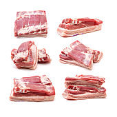 Pork belly Isolated on white background