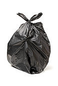 Bin bag  on a white background