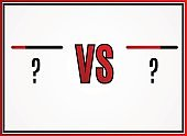 Versus . VS Vector Letters Illustration. Competition Icon. Fight Symbol
