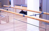 Yoga, dance and pilates studio gym bar training equipment for exercise, rehabilitation, physical therapy and stretching.