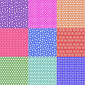 Christmas seamless pattern set color consisting of christmas tree, snowflake, star, candy, circle for promotion