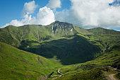 Mountains of country Georgia