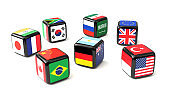 Dice with G20 flags cast
