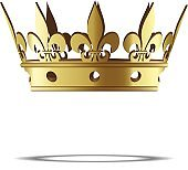 Vector isolated golden crown.