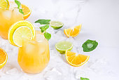 Summer citrus punch with oranges and lime