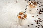Iced coffee with caramel