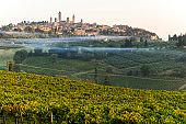 Misty Morning & Sunrise in San Gimignano - Historic Architecture & Landscape