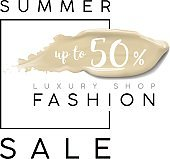 Luxury summer fashion sale. Banner for sales. Cosmetics make up template with cream foundation smear