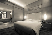 Elegant and comfortable bedroom interior