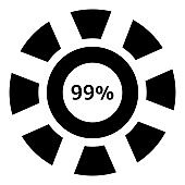 Ninety nine percent download icon, simple style