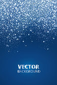 Falling glitter confetti, snow. Vector dust, explosion on blue background. Sparkling glitter border, frame.