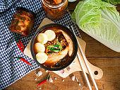 kimchi soup ,traditional Korean food.