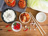 Kimchi, traditional Korean food.