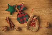 Handicraft Christmas bags