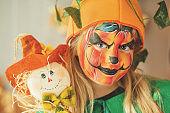 Pumpkin face paint