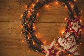 Illuminative Christmas wreath