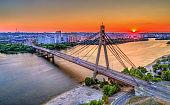 The Moskovskyi Bridge across the Dnieper in Kiev, Ukraine