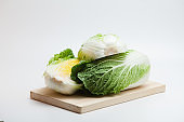 Cabbage on cutting board isolated