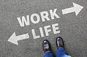 Work life balance living stress stressed relax health business concept