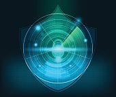 abstract technology network security background