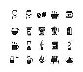 set of coffee shop icon symbol