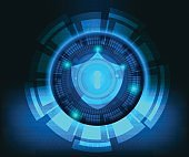 abstract cyber secutiry technology background